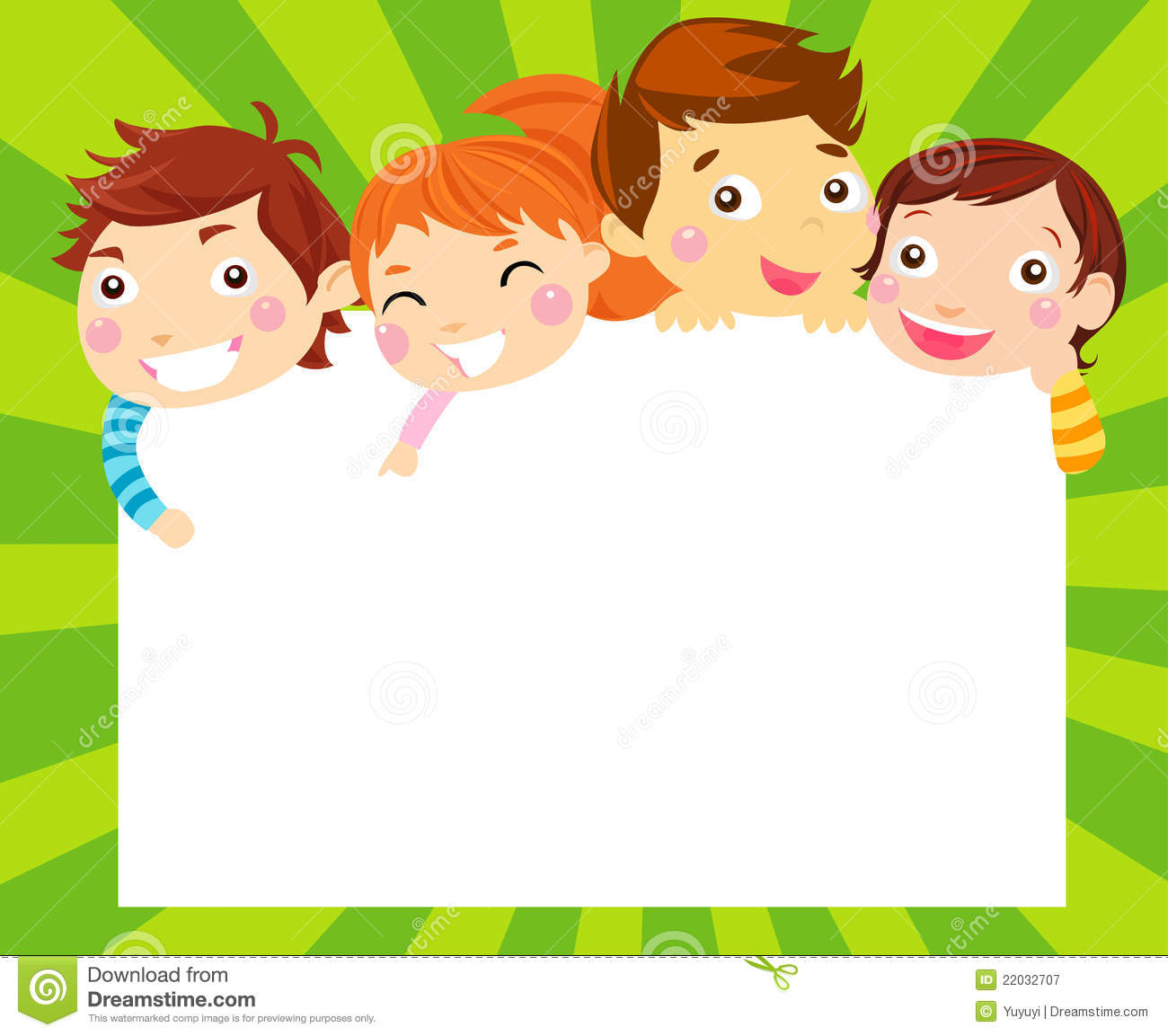 Boys And Girls And Frame Illustration 22032707 Megapixl