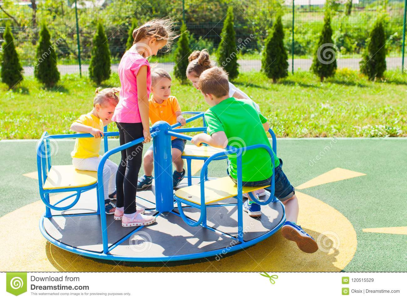 56549242f Friendship On The Playground Stock Image - Image of casual ...