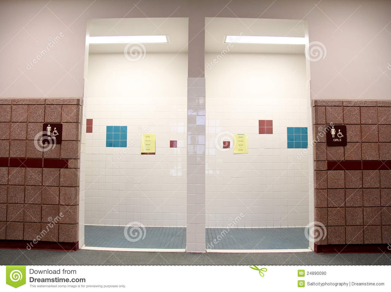 elementary school bathroom design boys image of the boys and girls restrooms in an elementary school boys girls restrooms stock photo white wash 24890090