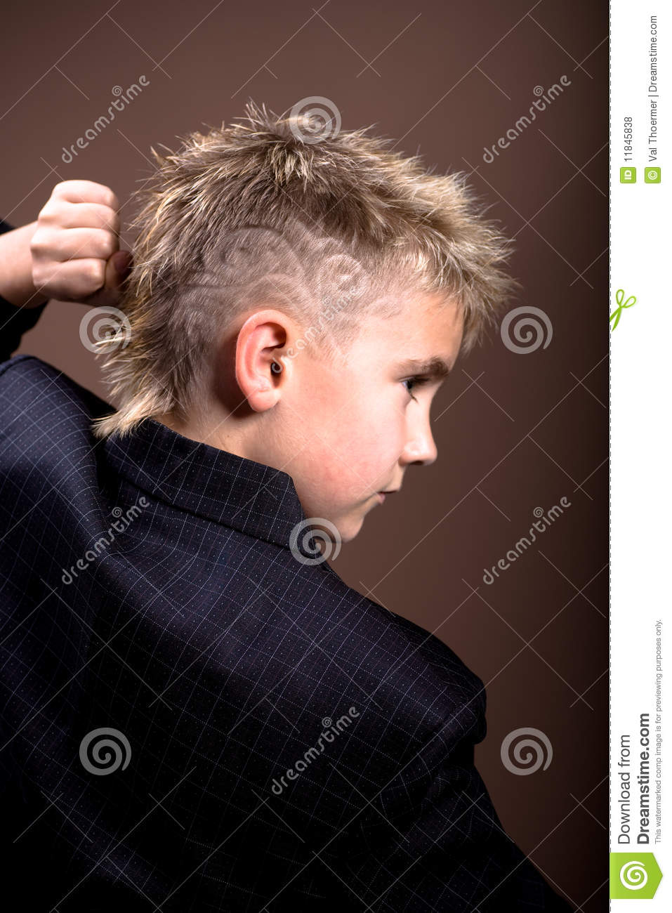Boys Hairstyle Stock Photo Image Of Face Male Hairstyle 11845838