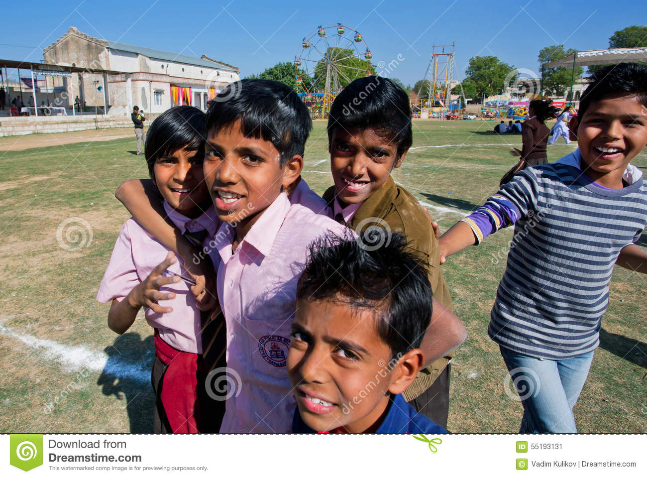 Nawalgarh India  city photos : NAWALGARH, INDIA: Unidentified boys jumping on the yard of indian ...