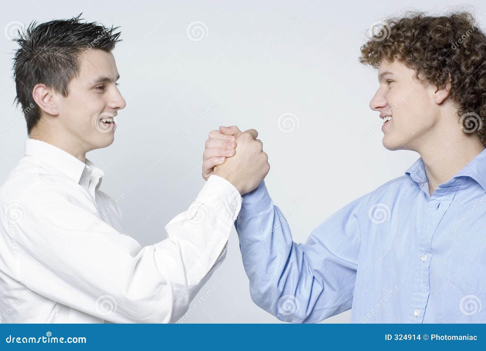 Boys / partnership handshake