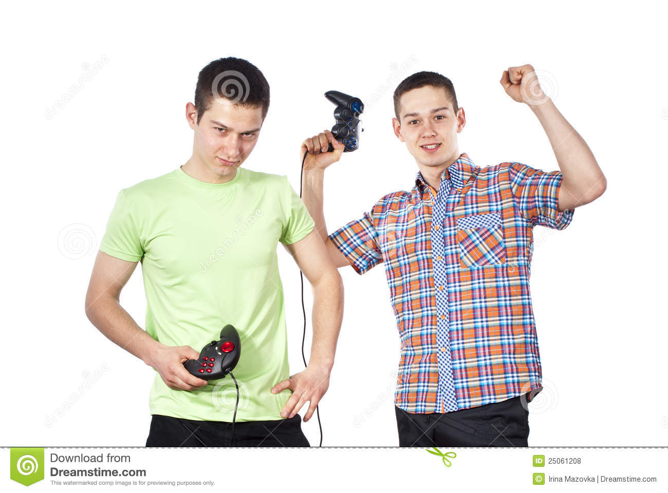 Royalty free stock photos boys play computer games insulated