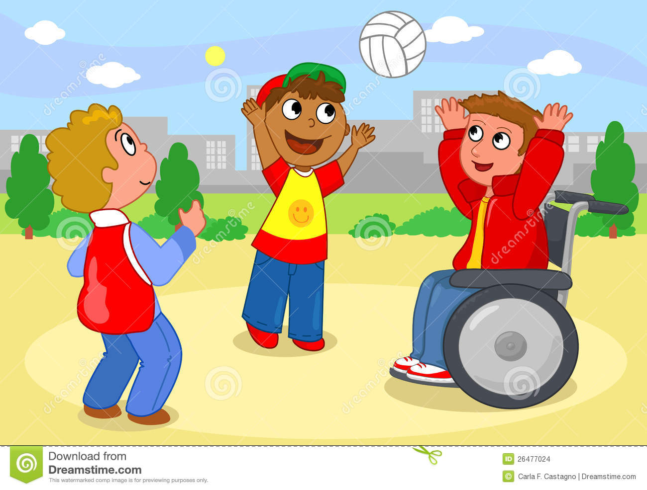 Boys Playing With Ball Vector Stock Vector Illustration