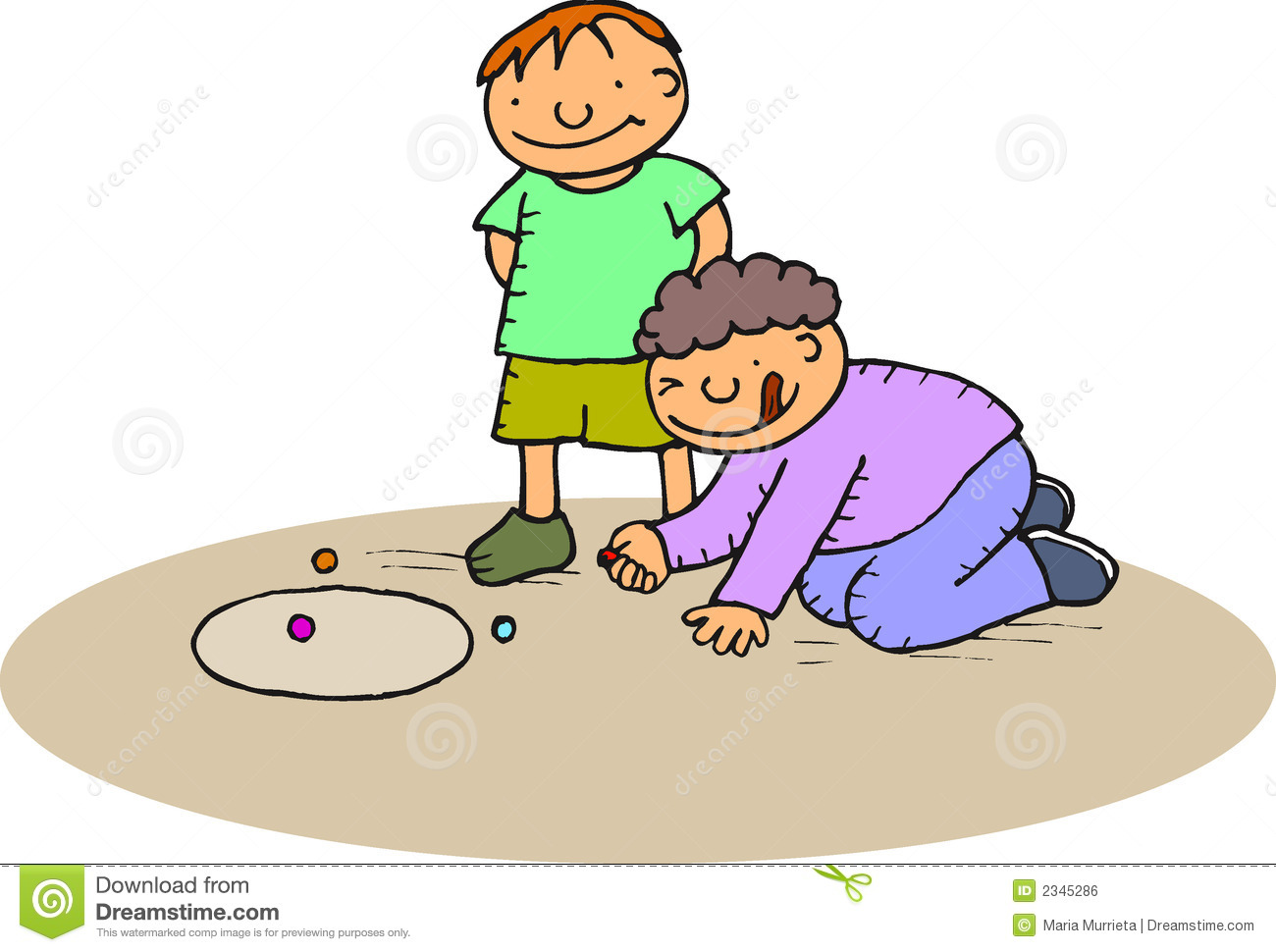 Boys Playing Marbles Royalty Free Stock Image - Image: 2345286