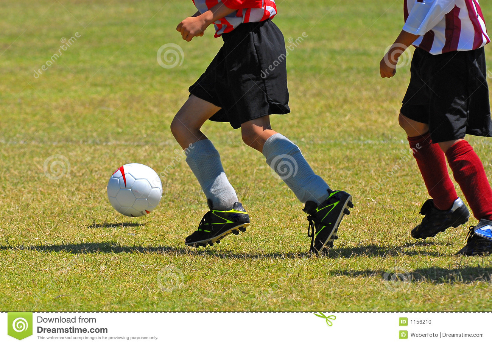 Boys Playing Soccer Stock Photo. Image Of Black, Ball