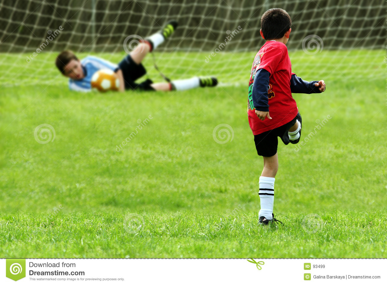 Boys Playing Soccer Stock Image. Image Of Keeper, Ball