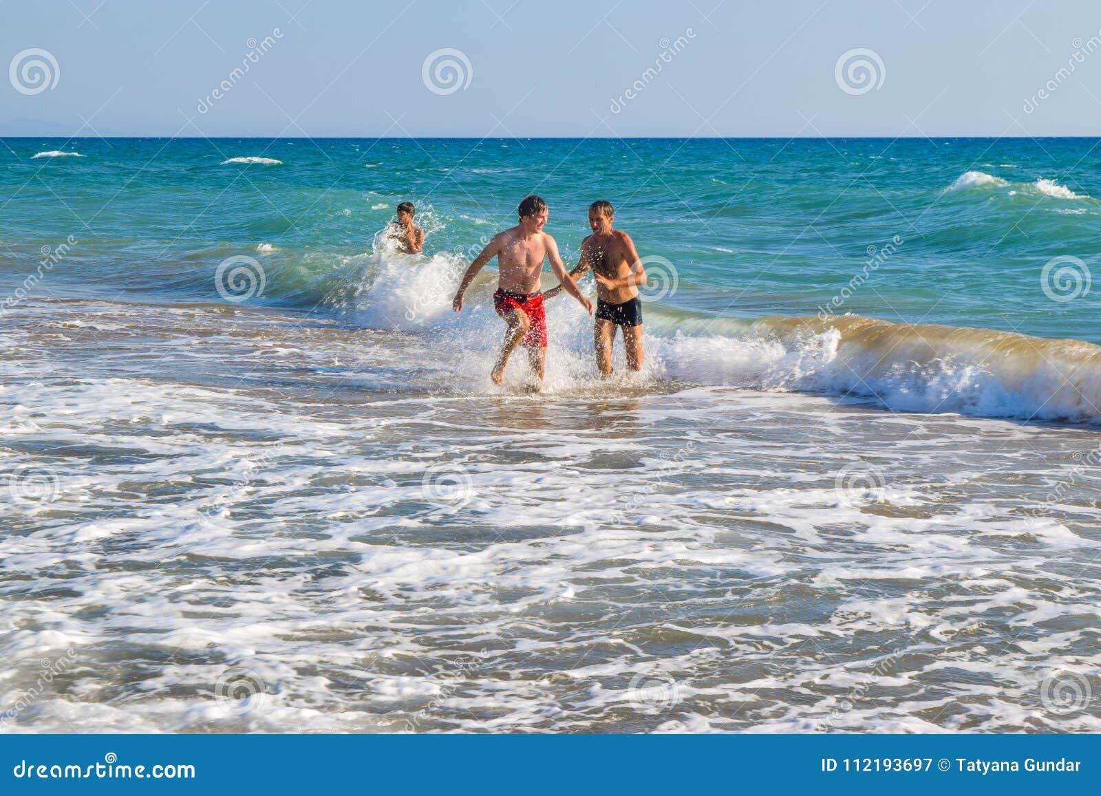 The active beach games.