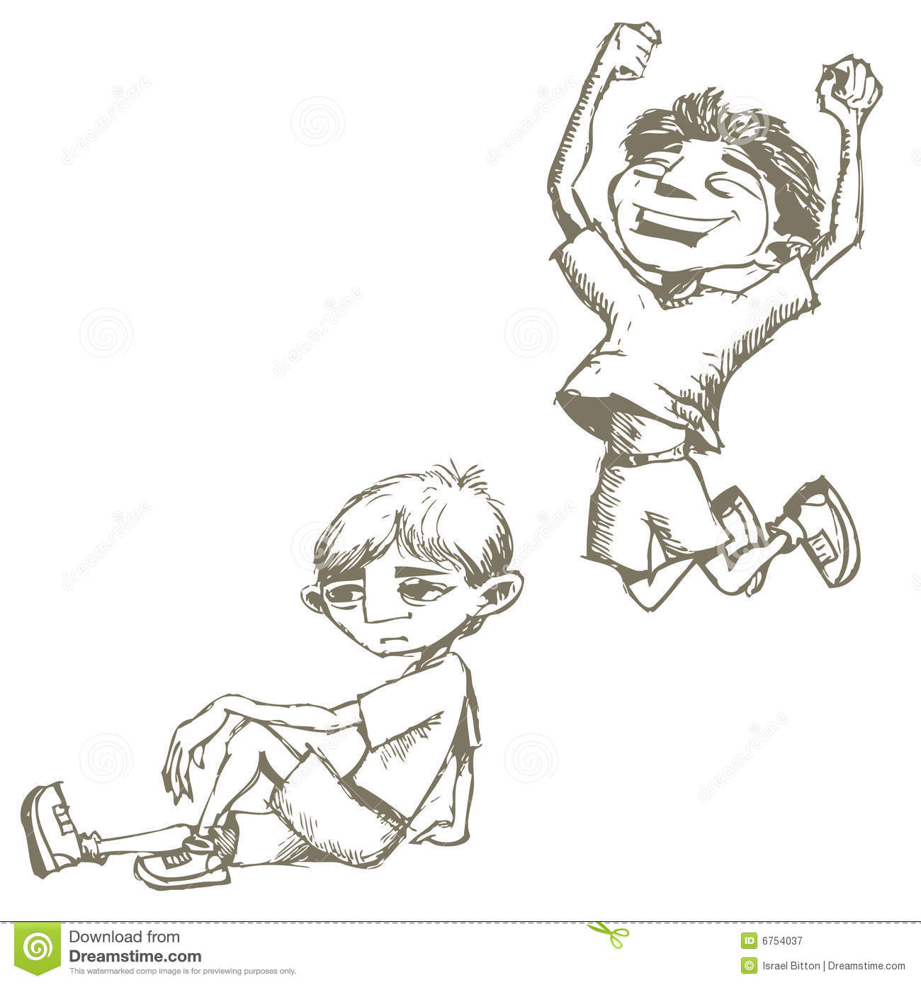 Boys Sketches Stock Illustration Image Of Illustration 6754037