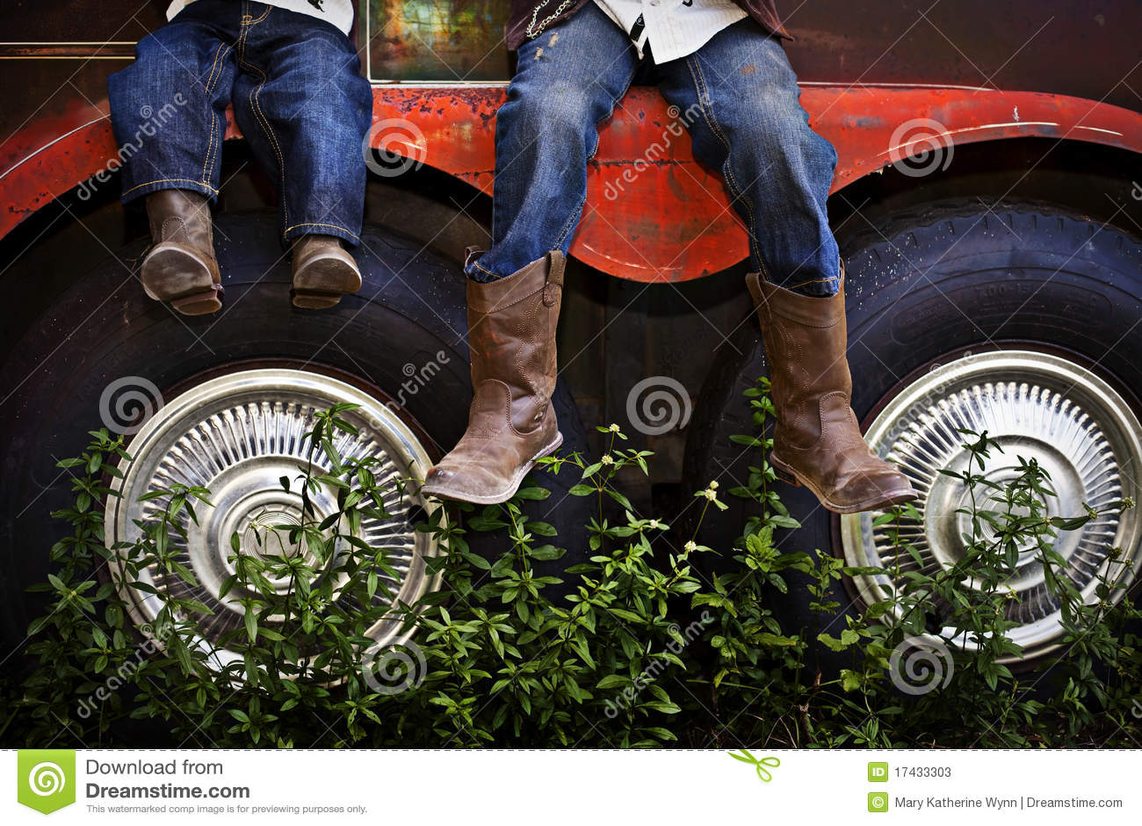 Boys wearing Cowboy Boots