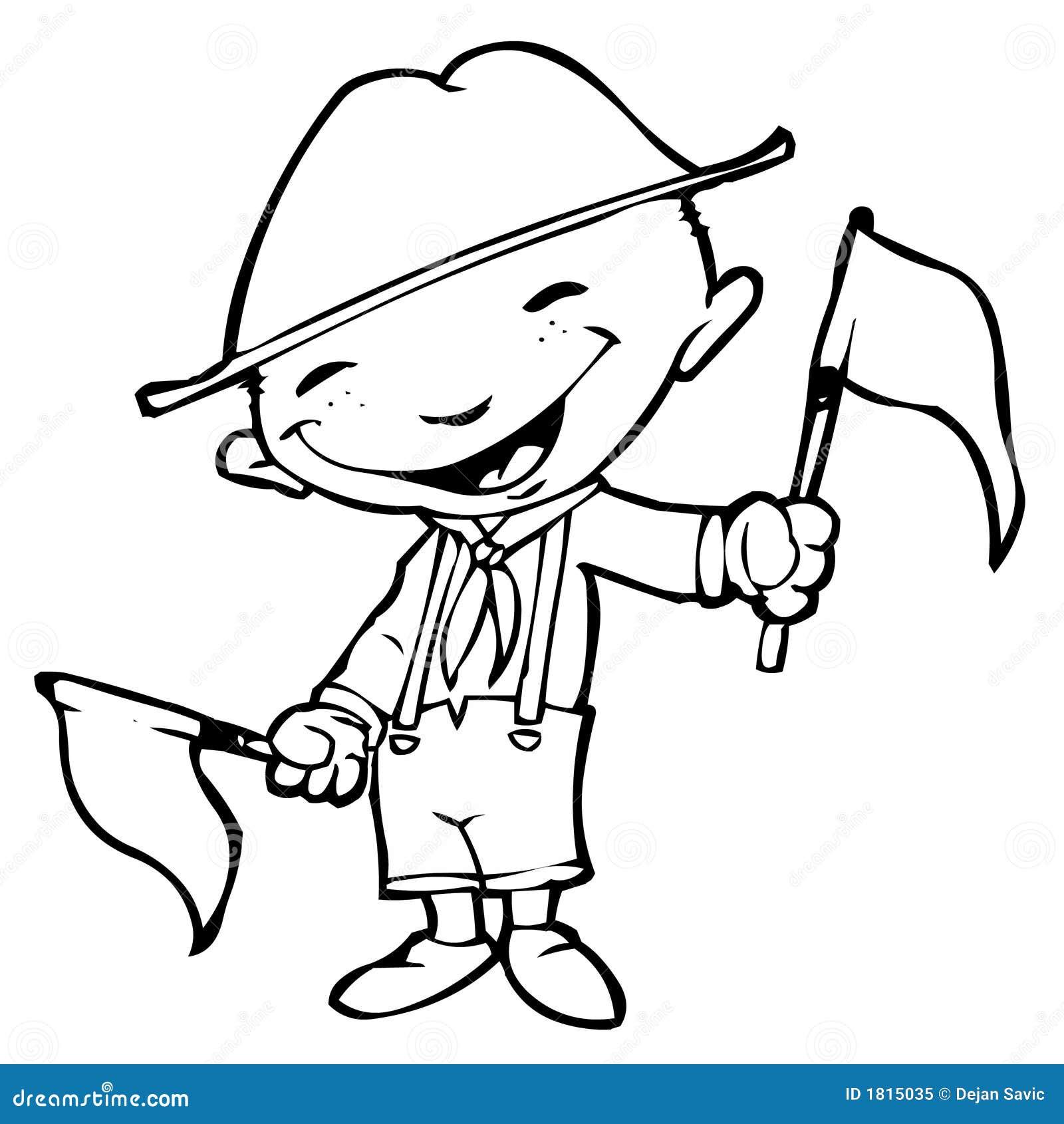 Download Boyscout stock illustration. Illustration of boyscout - 1815035