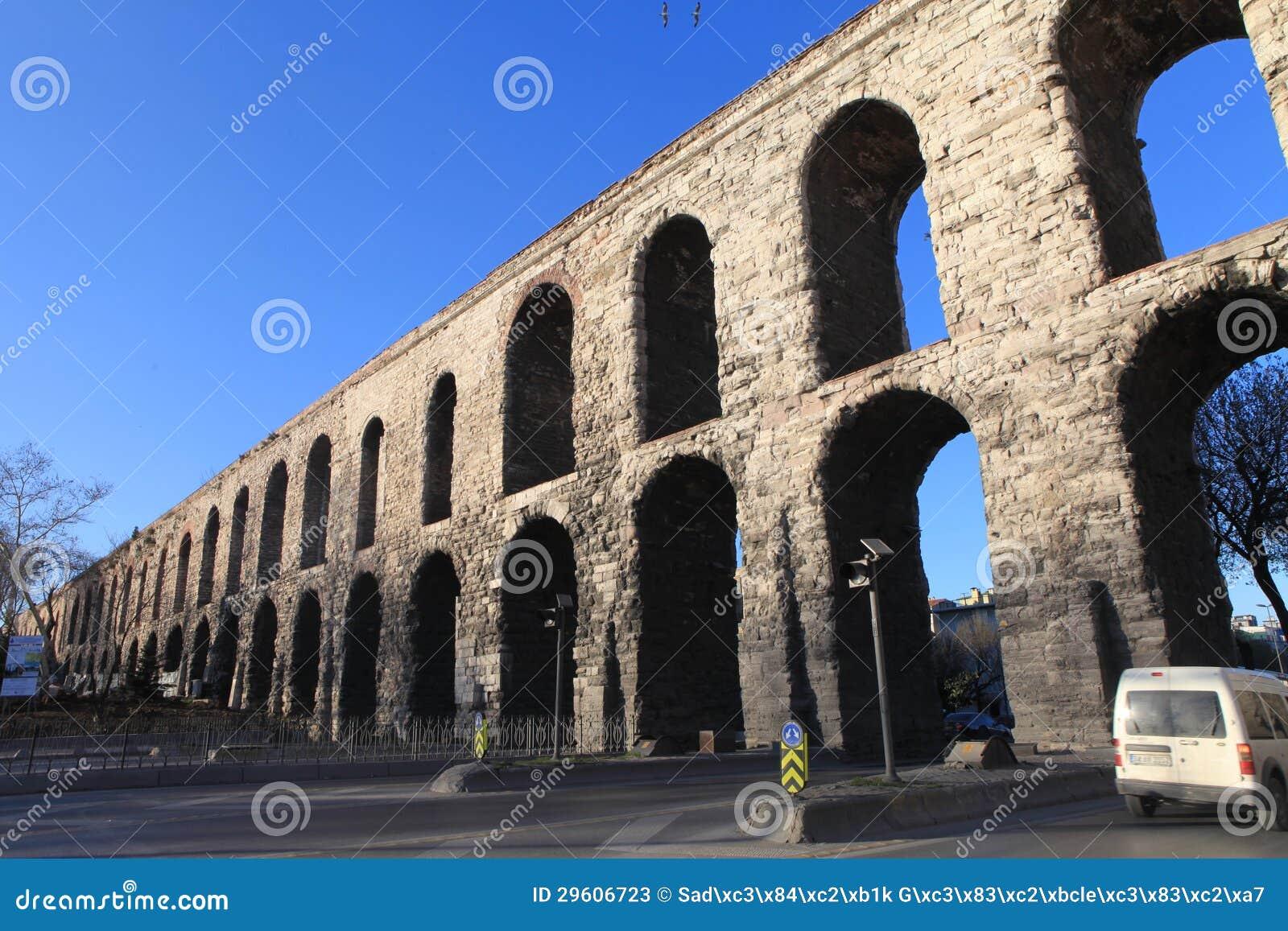 Bozdogan Aqueduct In Istanbul. Editorial Stock Photo ...