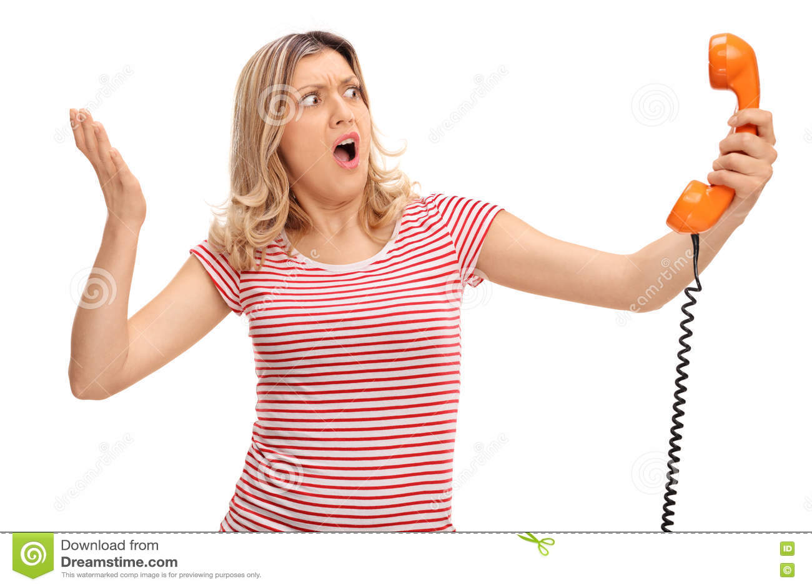 Boze de telefoonspreker van de vrouwenholding
