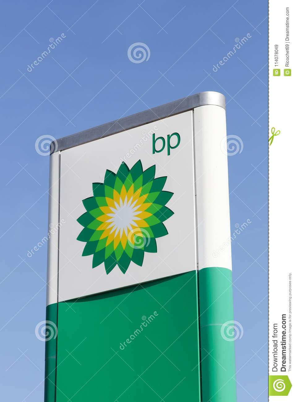 Bp Logo On A Panel Editorial Stock Image Image Of Fuel 114078049