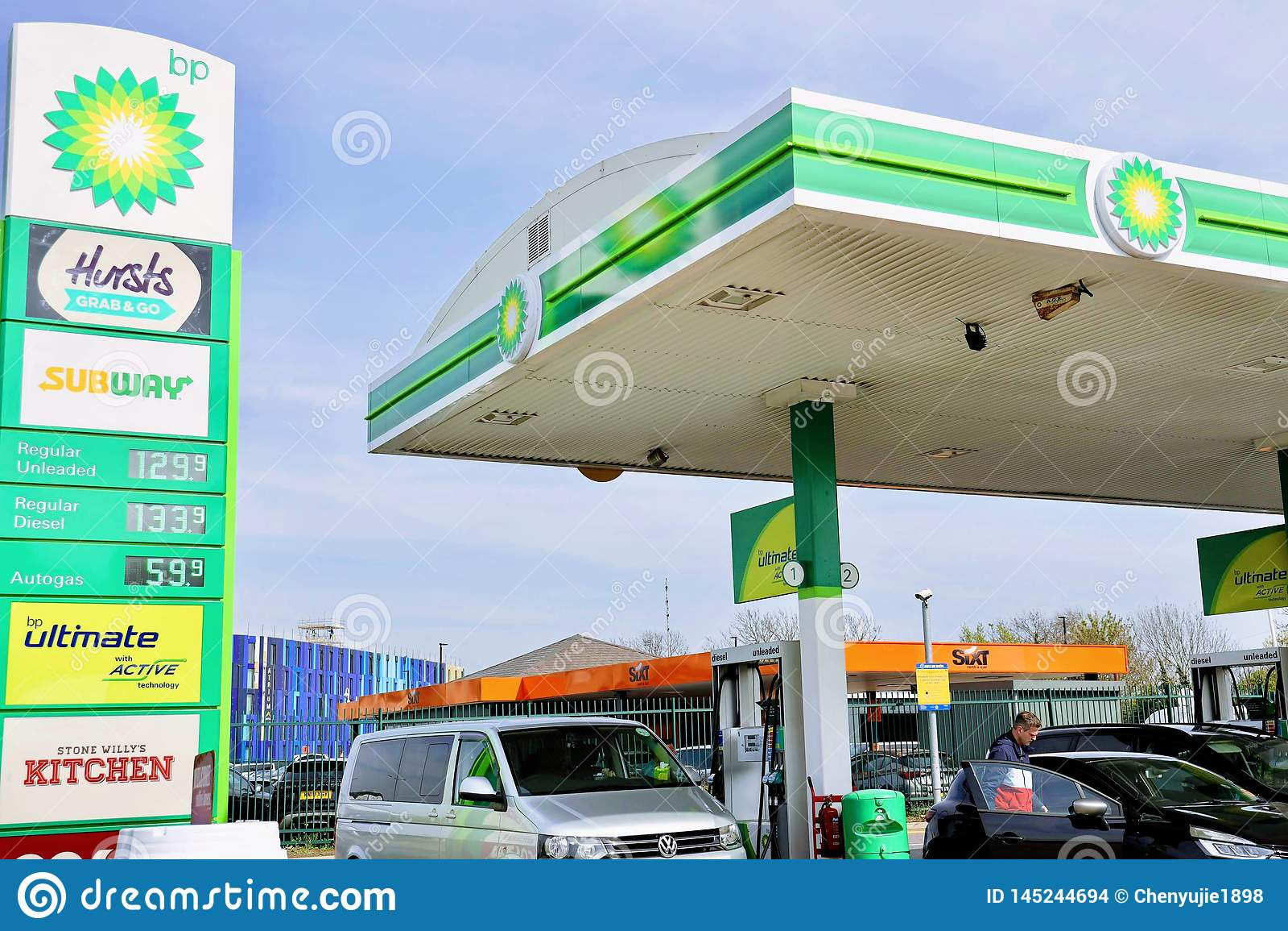 BP petrol station editorial stock image  Image of petrol - 145244694