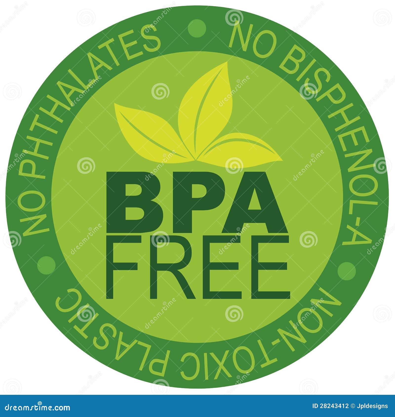bpa free label illustration stock photography image 28243412. Black Bedroom Furniture Sets. Home Design Ideas