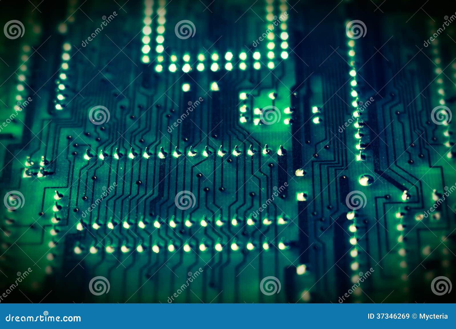 Bräde för elektronisk strömkrets