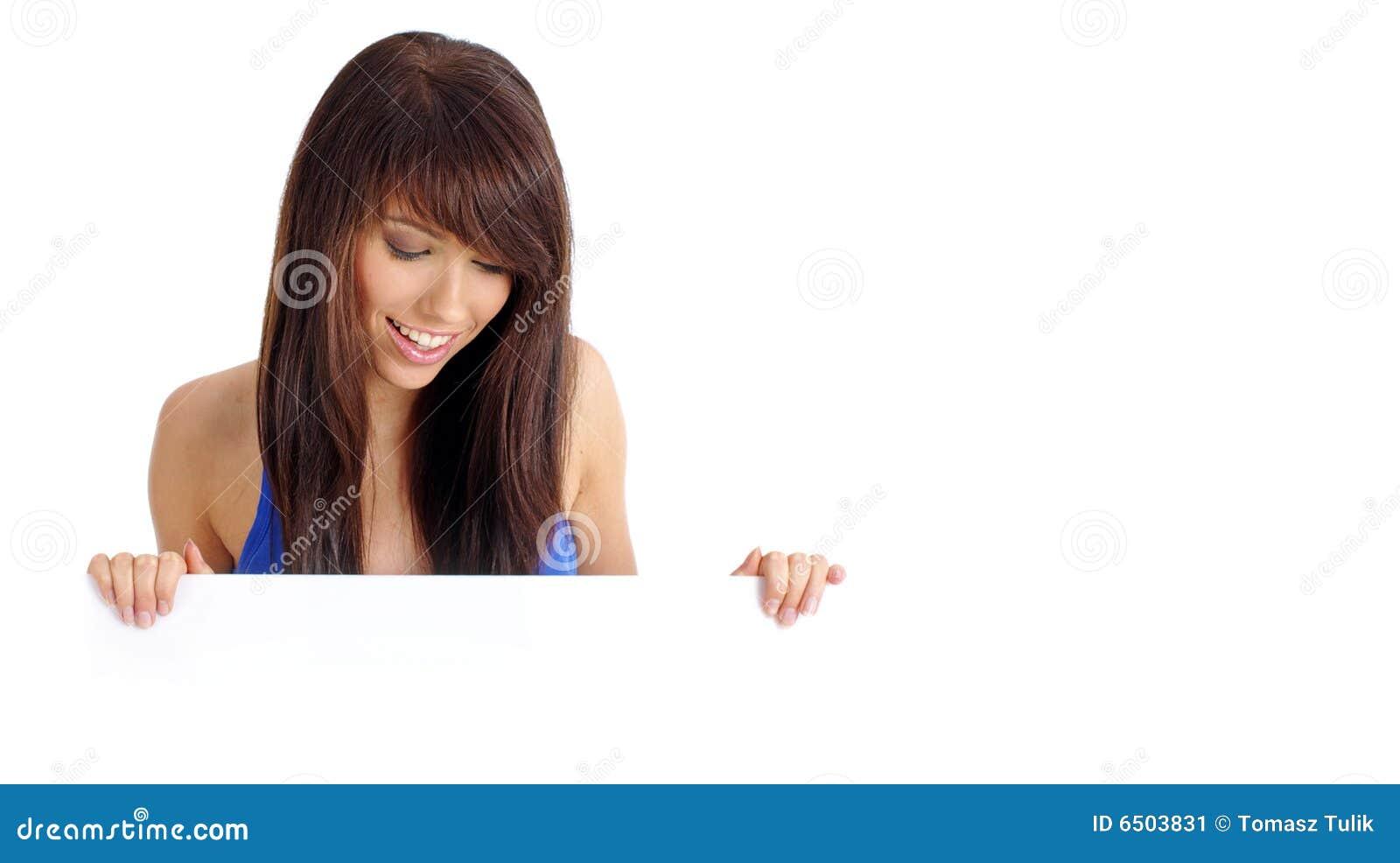 Bräde som rymmer den sexiga kvinnan