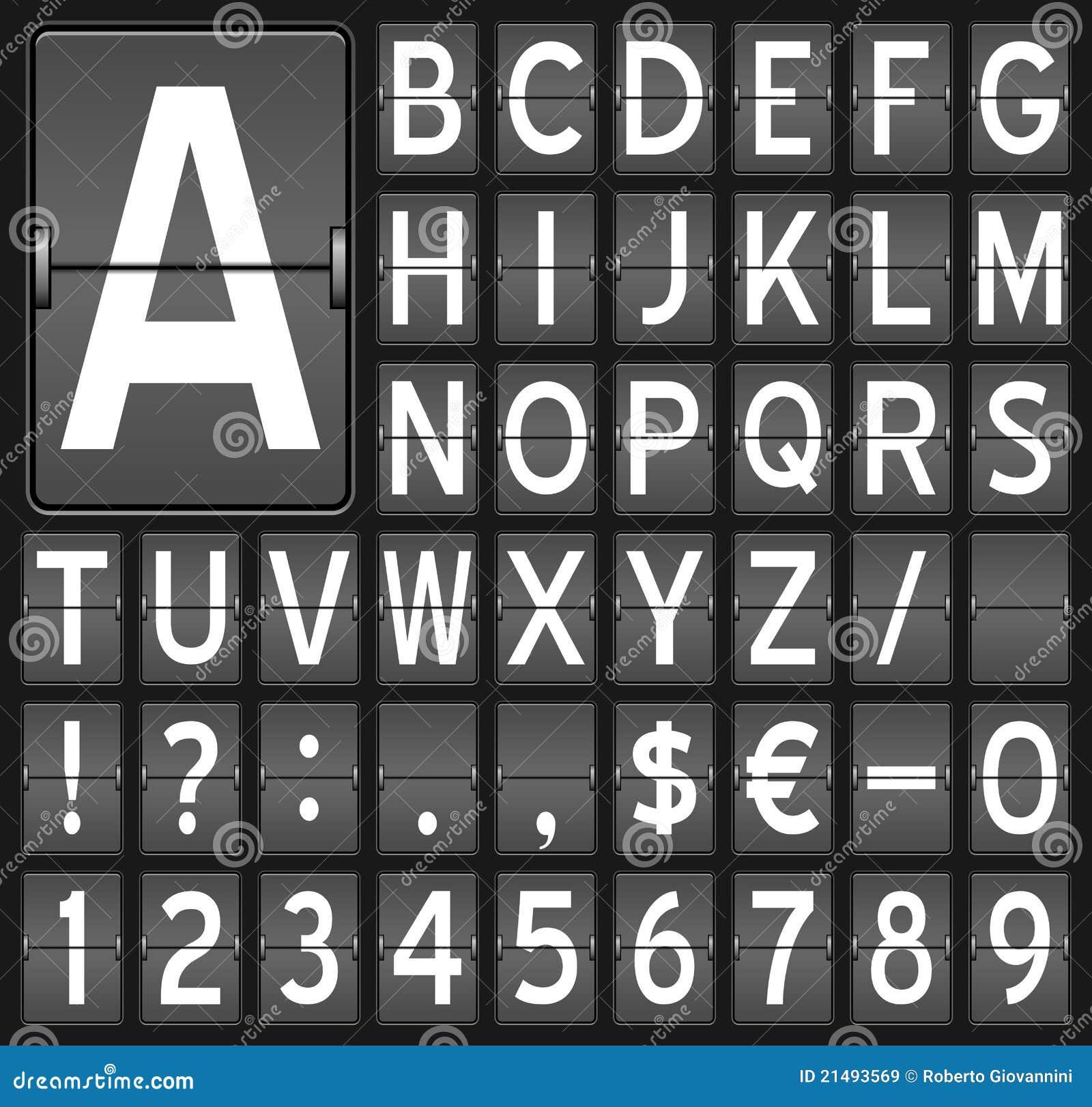 Brädeflipen letters nummer