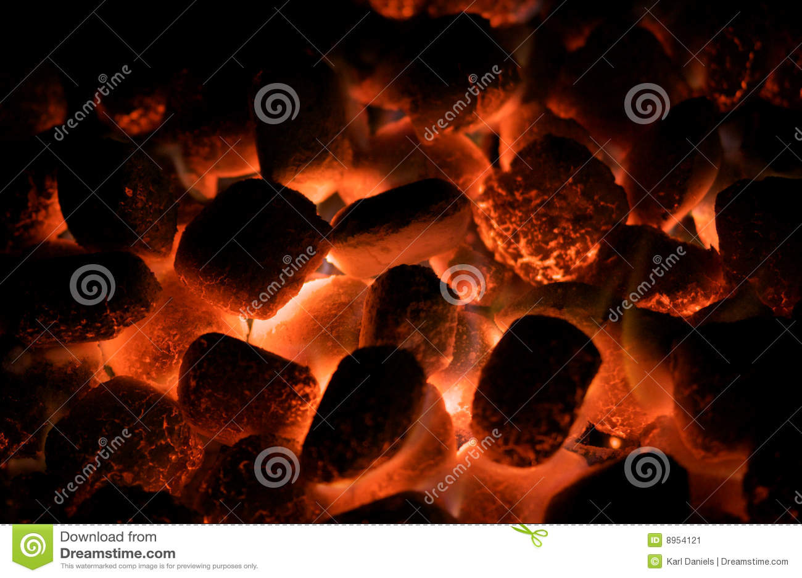 Bränner till kol varmt