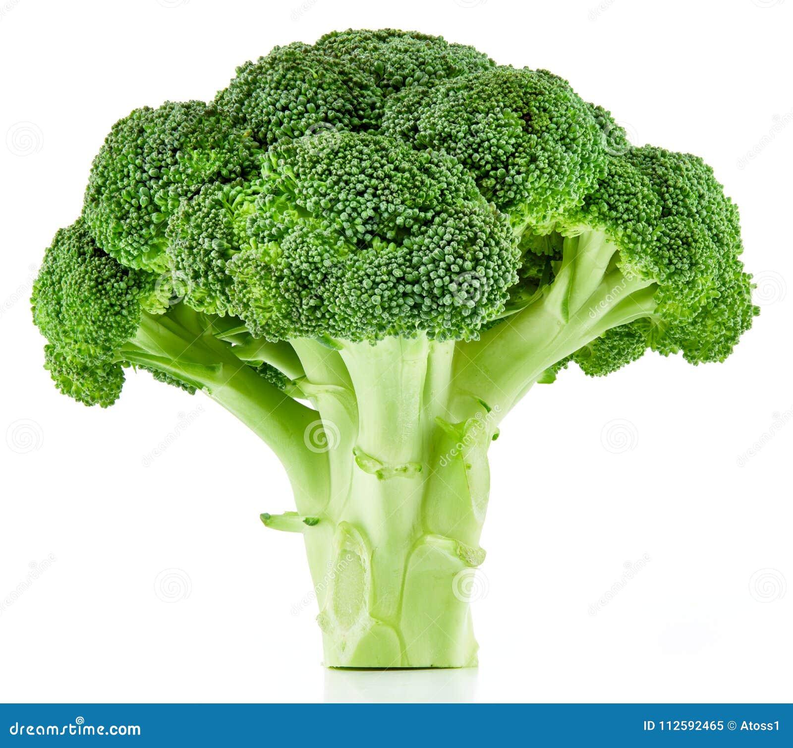 Brócolis crus isolados
