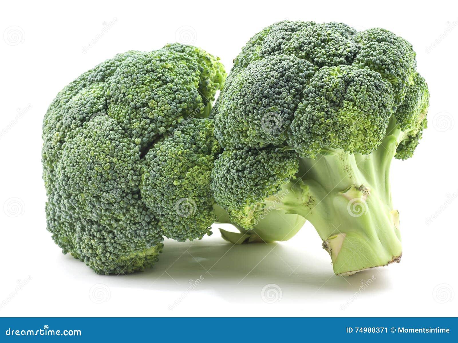 Bróculi en blanco