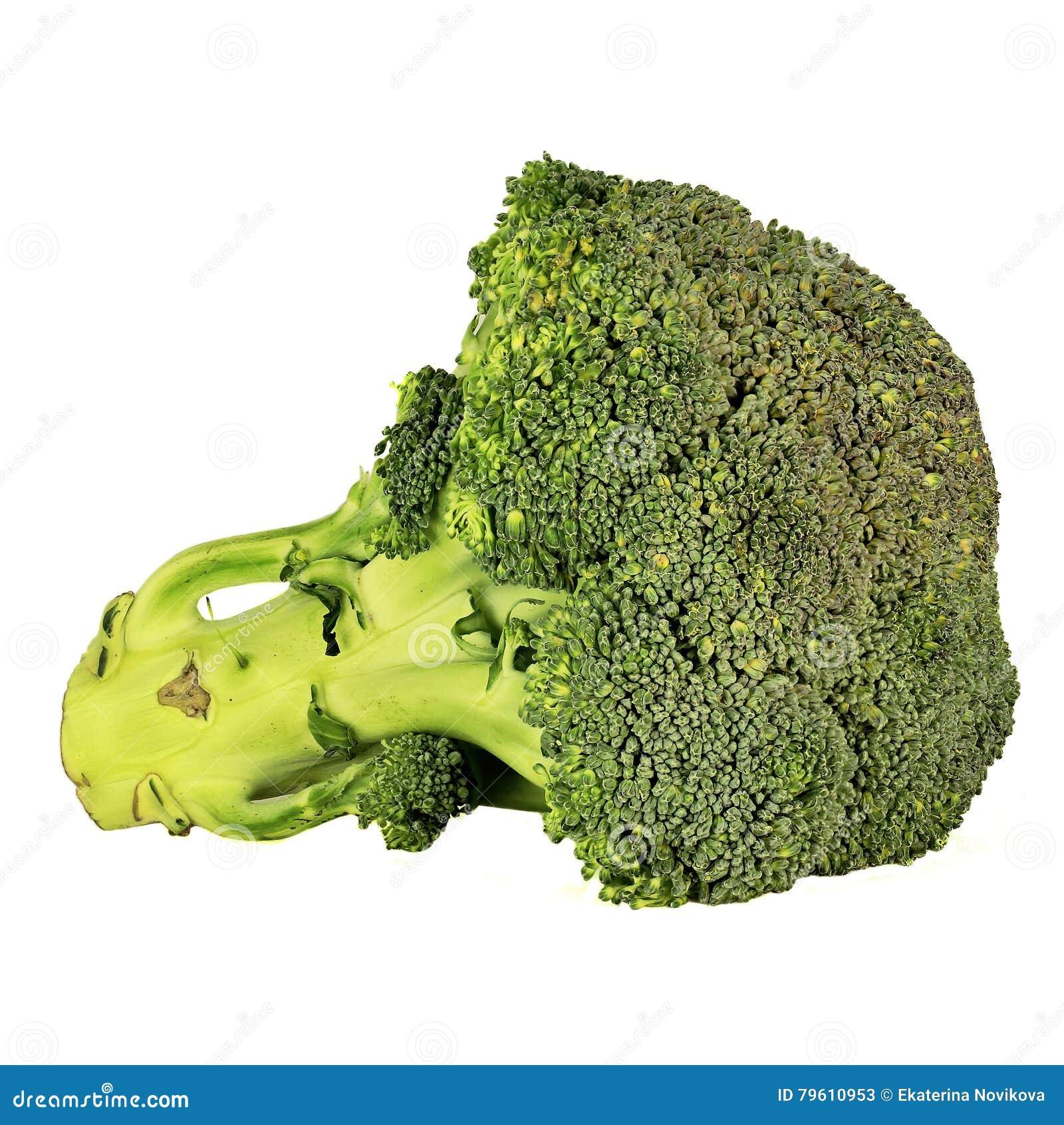 Bróculos isolados no branco