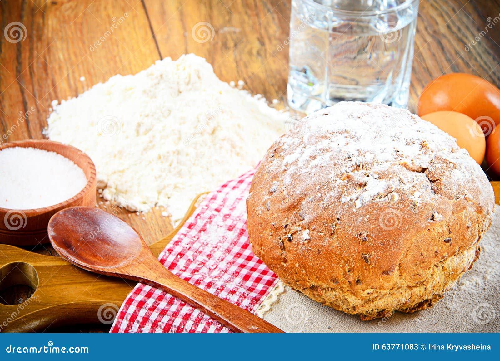 bröd på mjöl och vatten