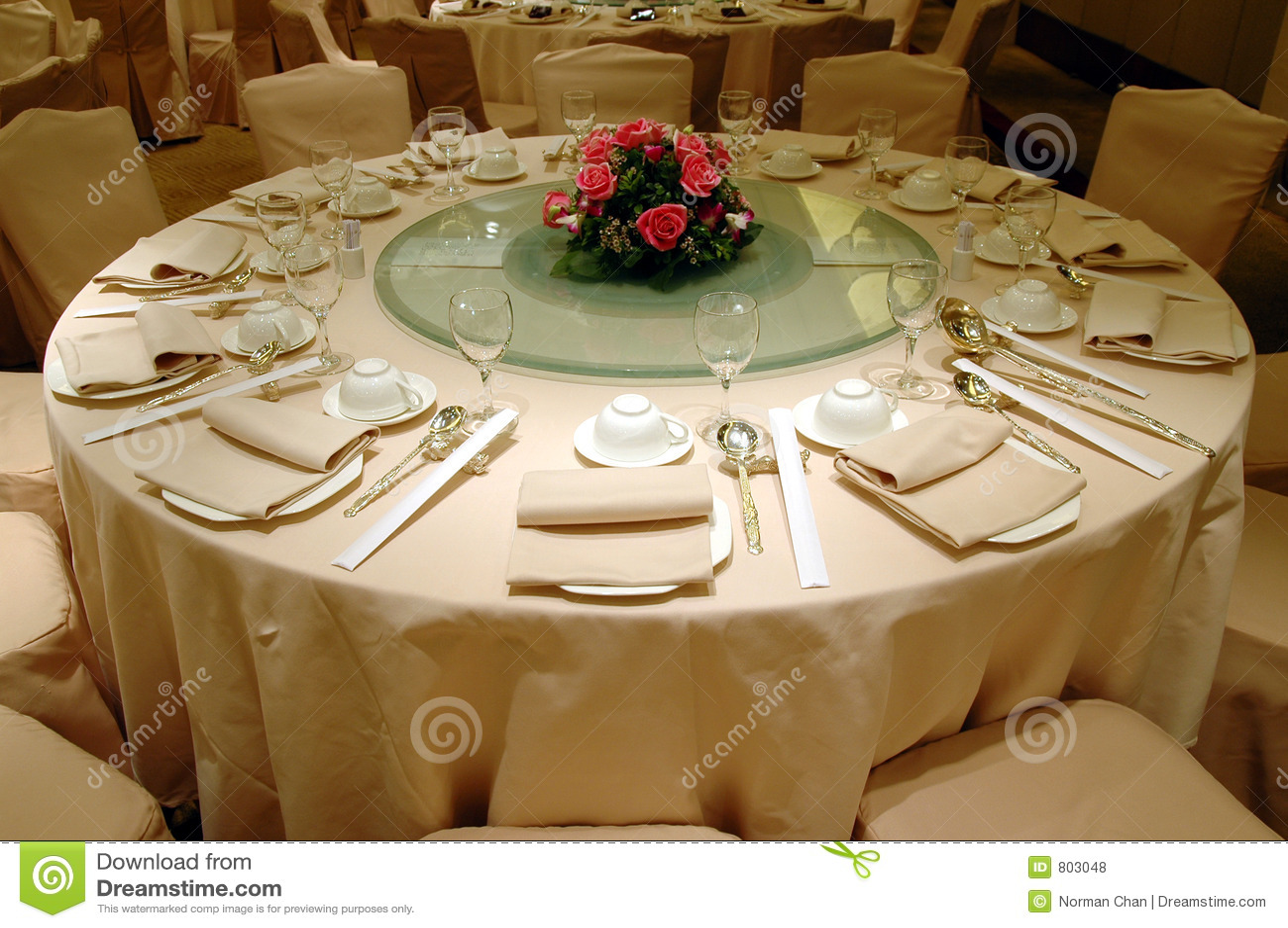 Bröllop för bankettinställningstabell