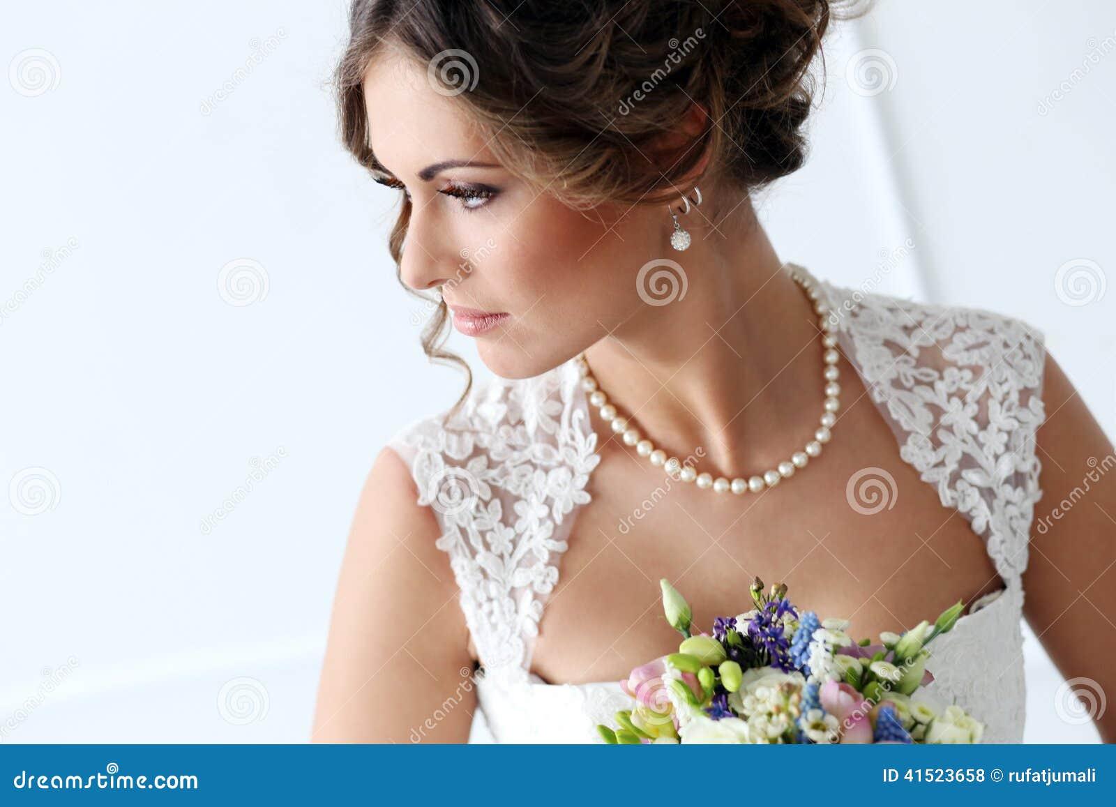 Bröllop härlig brud