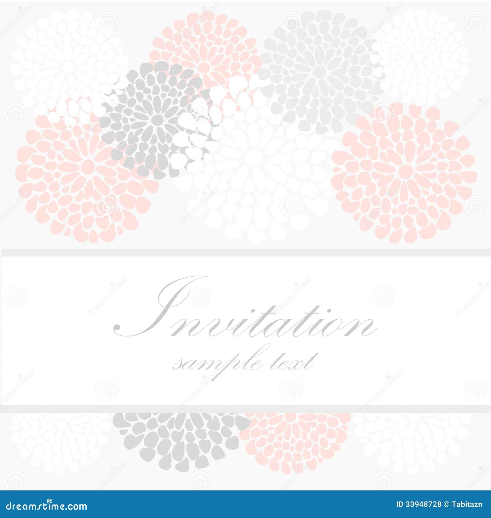 Bröllopfödelsedagkort eller inbjudan med abstrakt begrepp