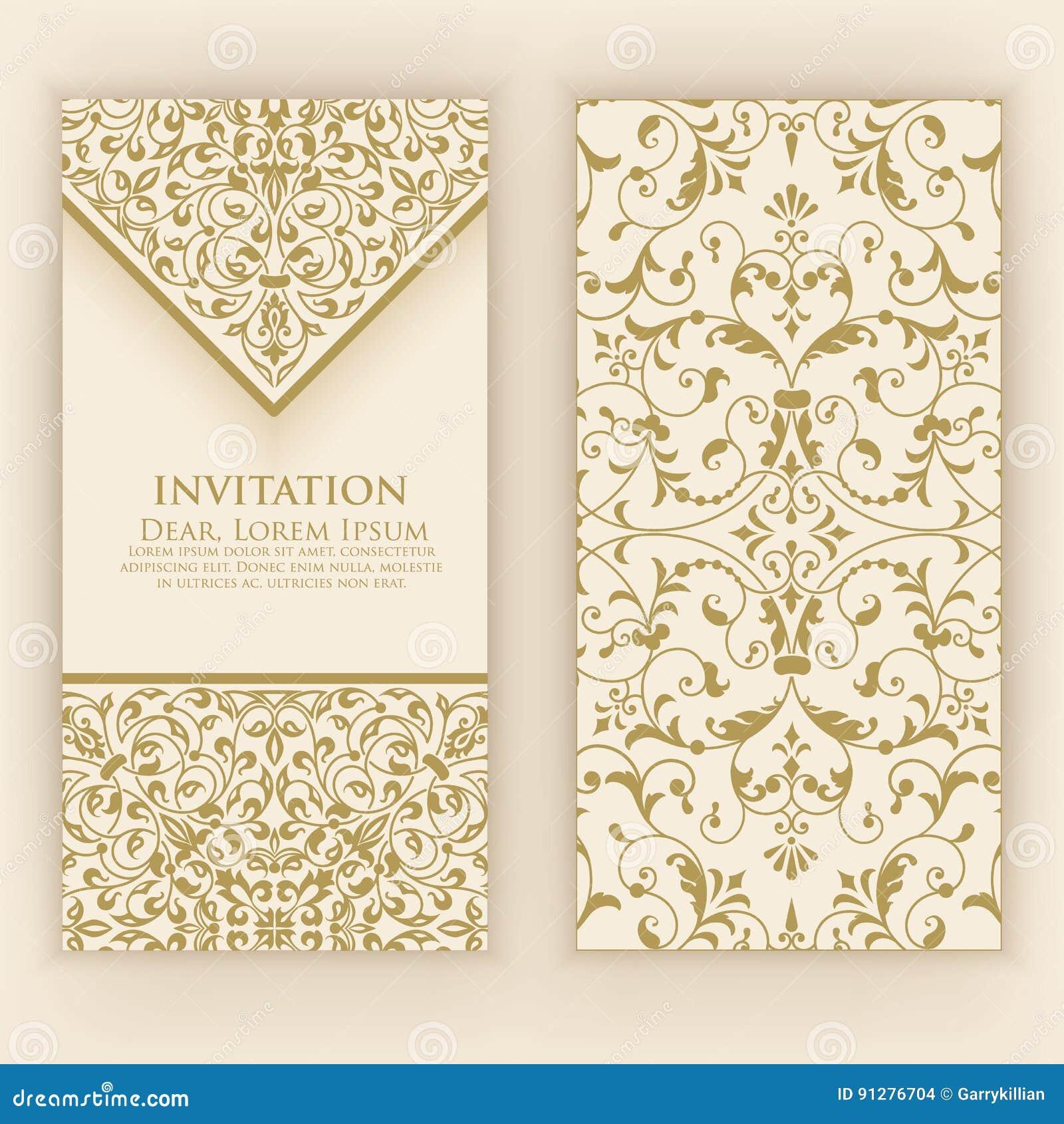Bröllopinbjudan- och meddelandekort med tappningbakgrundskonstverk