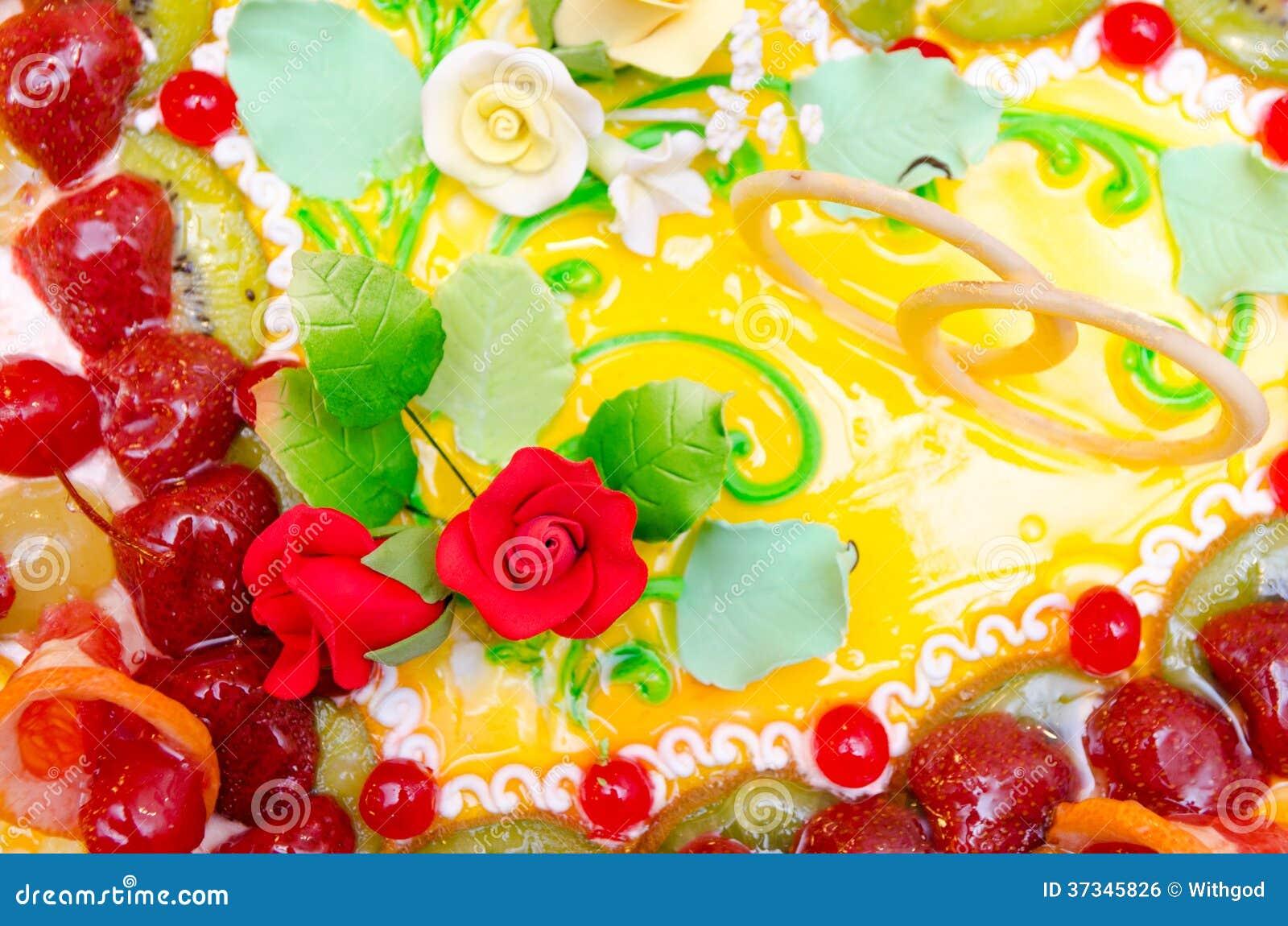 Bröllopstårta closeup