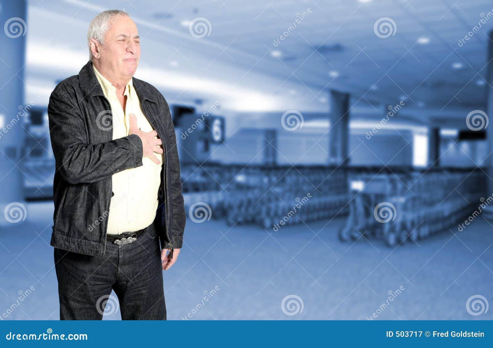 Bröstkorgen smärtar pensionären