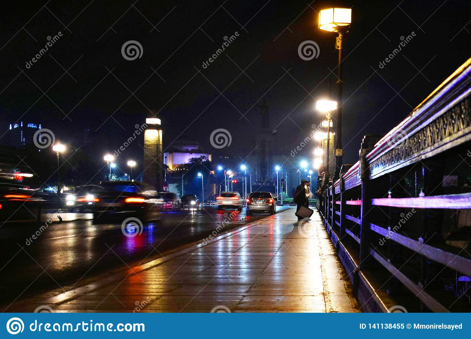 Brücke Kasr EL Nil nachts