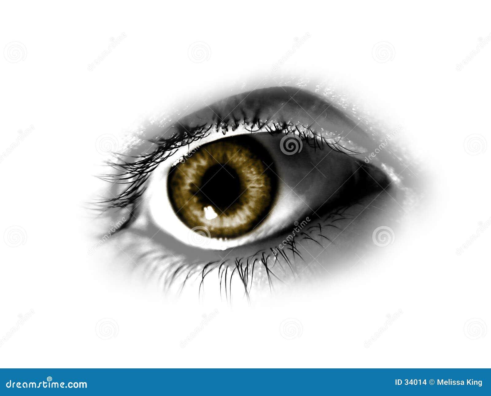Brązowe oko abstrakcyjne
