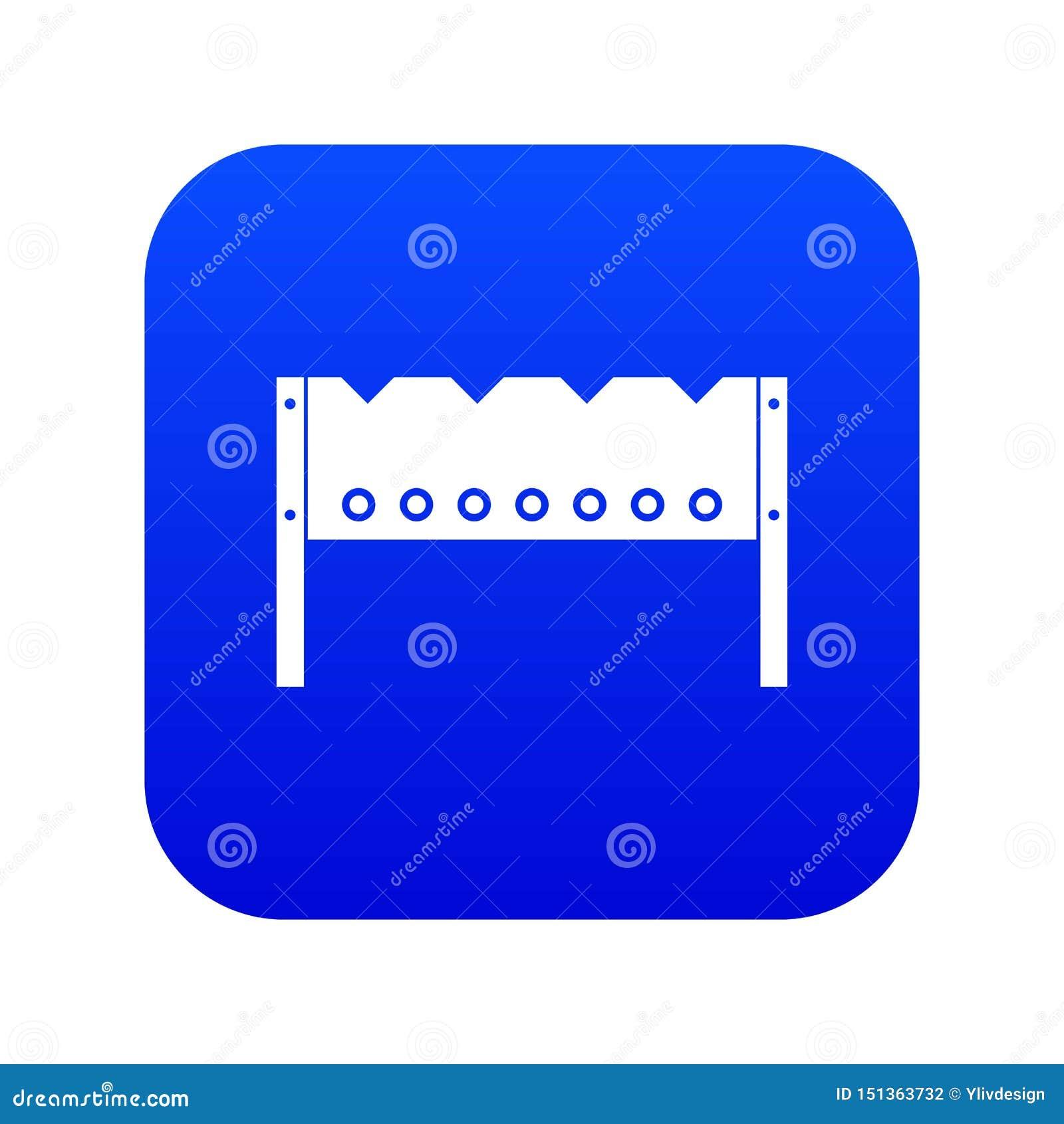 Brązownik ikony cyfrowy błękit