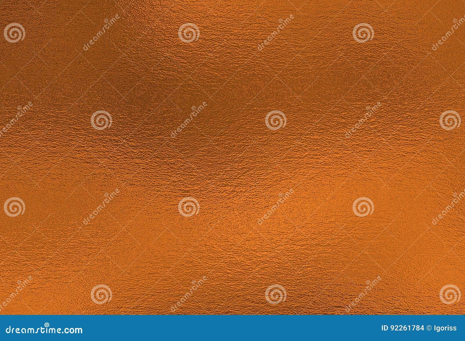 Brązowy tło Metal folii dekoracyjna tekstura