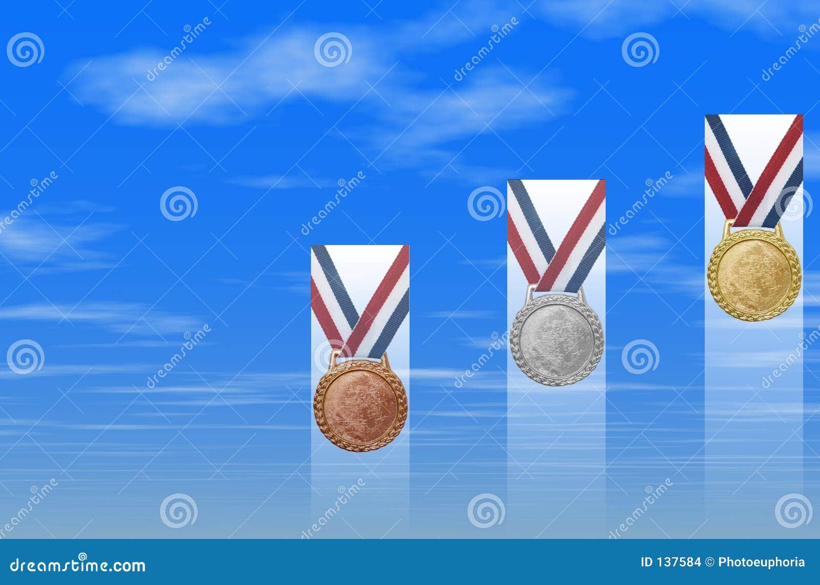 Brązowy złote medale srebra