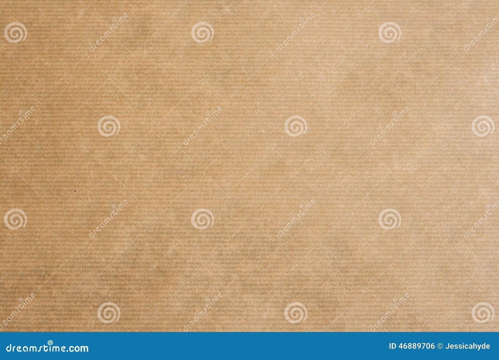 Brązu Kraft pasiasty papier