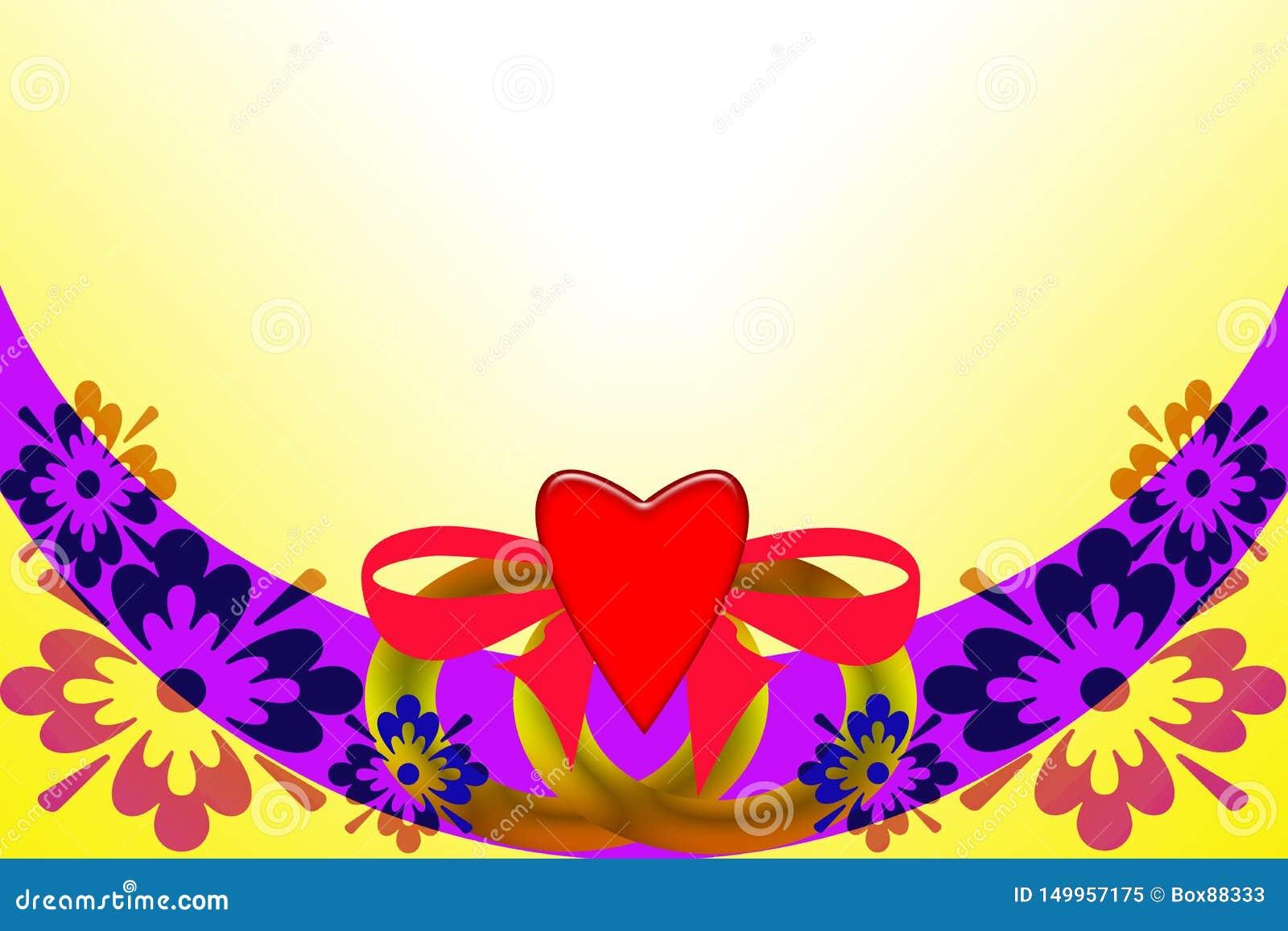 Br?llop f?r romantiskt symbol f?r inbjudan f?r bakgrundseleganshj?rtor varmt Abstrakt bild med mångfärgade beståndsdelar