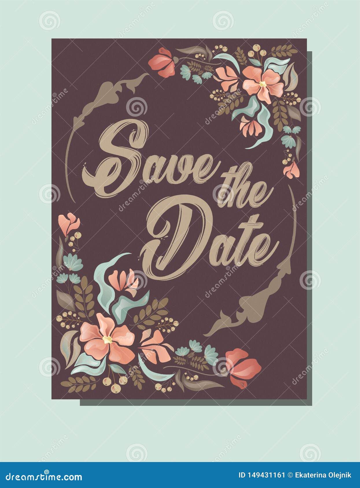 Br?llopinbjudan, sparar datumkortet
