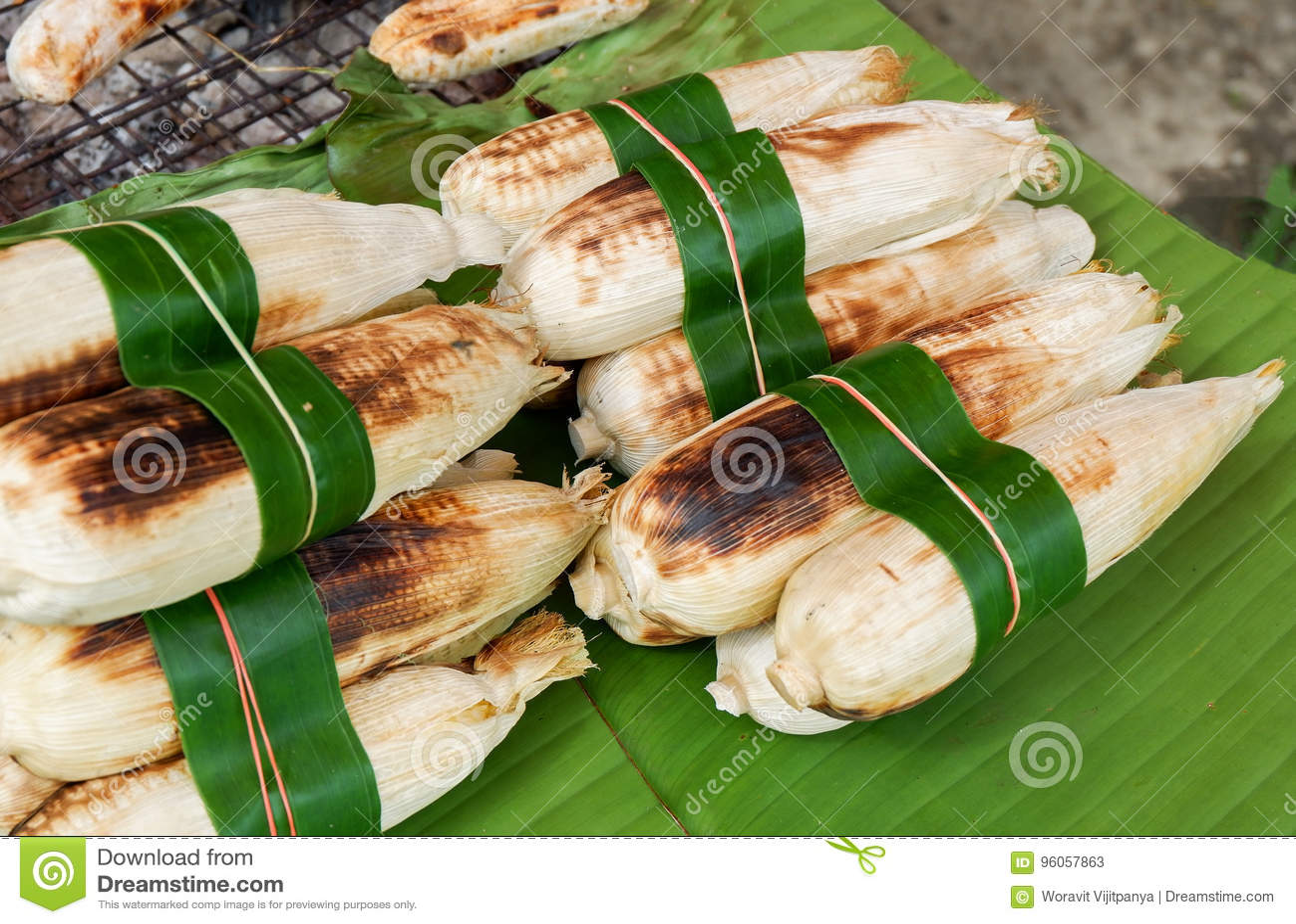 Brûlure de maïs de gril de maïs