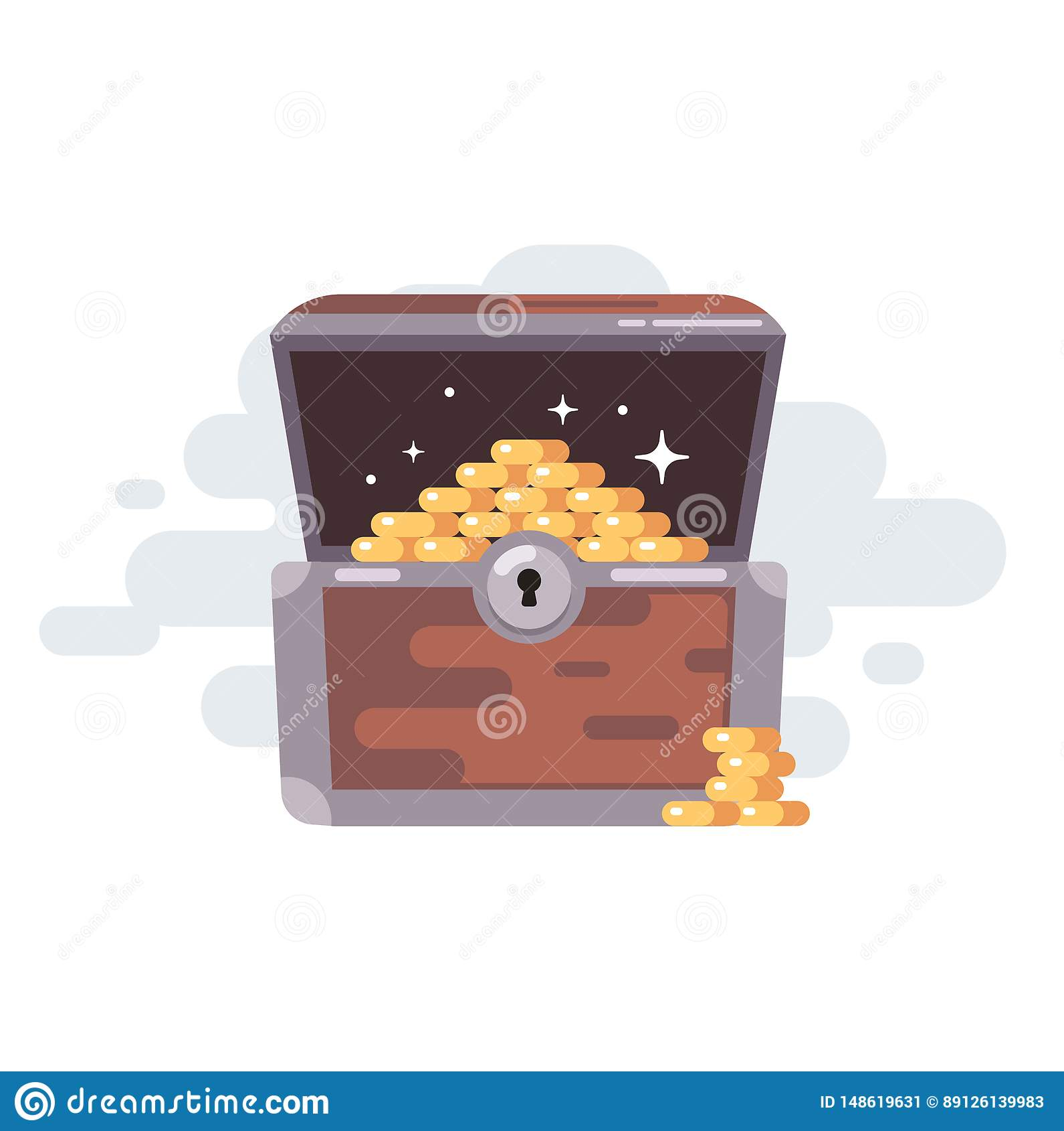 Br?stkorgen coins den gammala skatten coins guld-