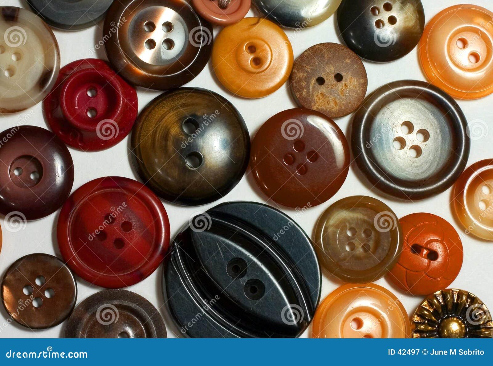 Brązowe przyciski