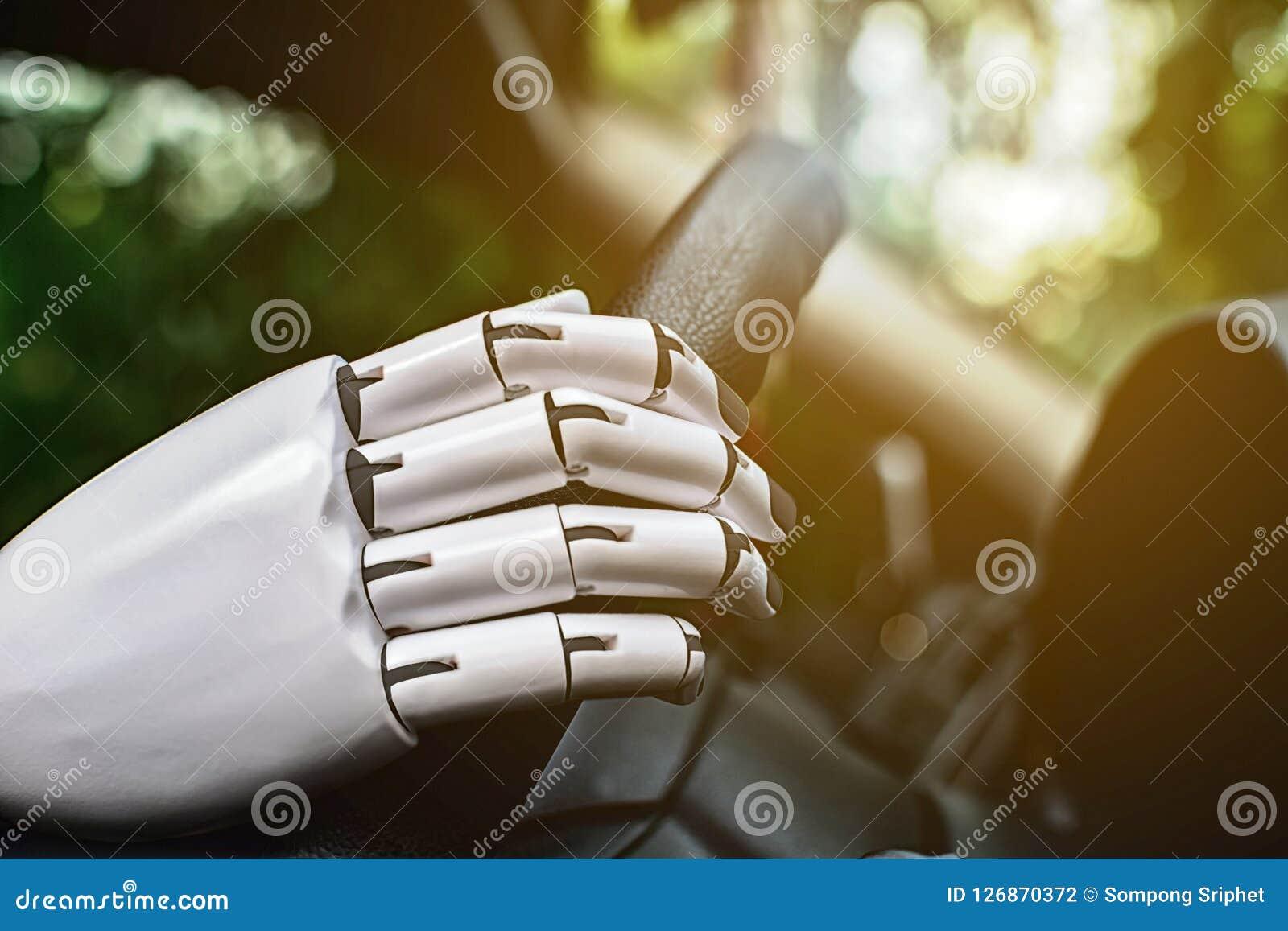 Braço futuro automático esperto do robô do sistema de condução do carro do robô