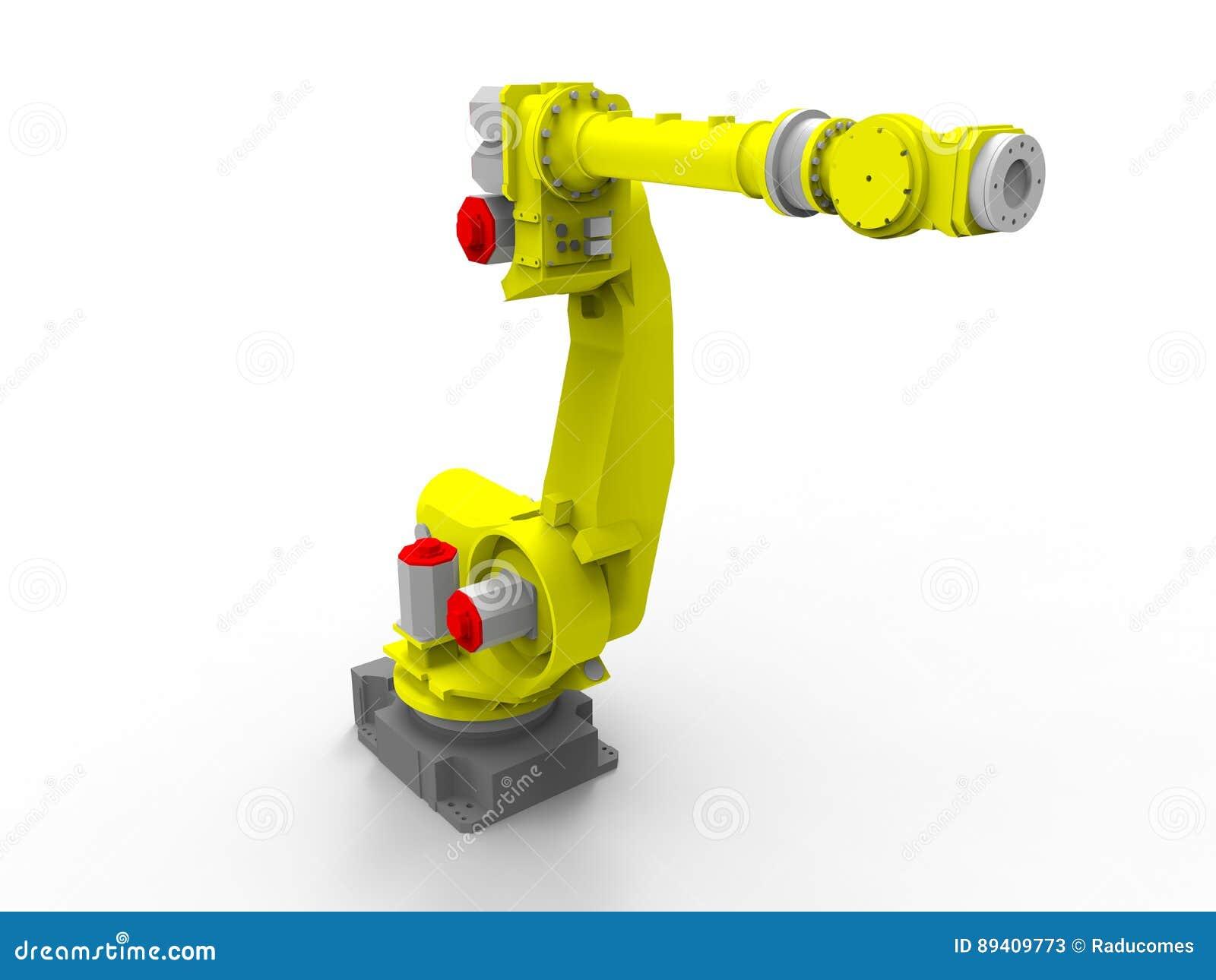 Braço robótico industrial - opinião de perspectiva