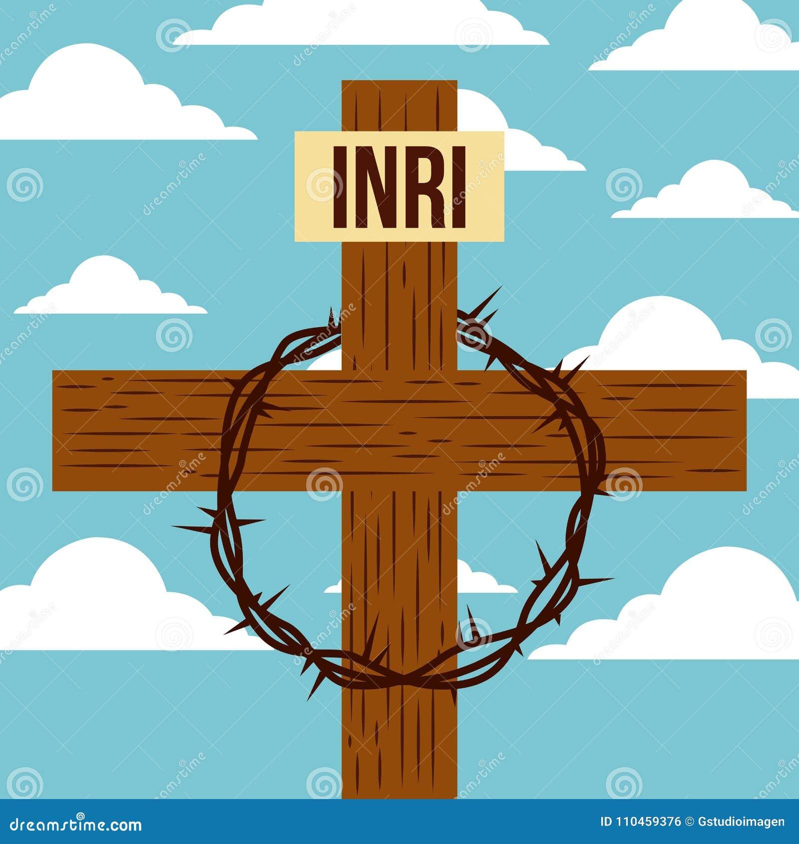 Bra fredag jesus korskrona av taggar
