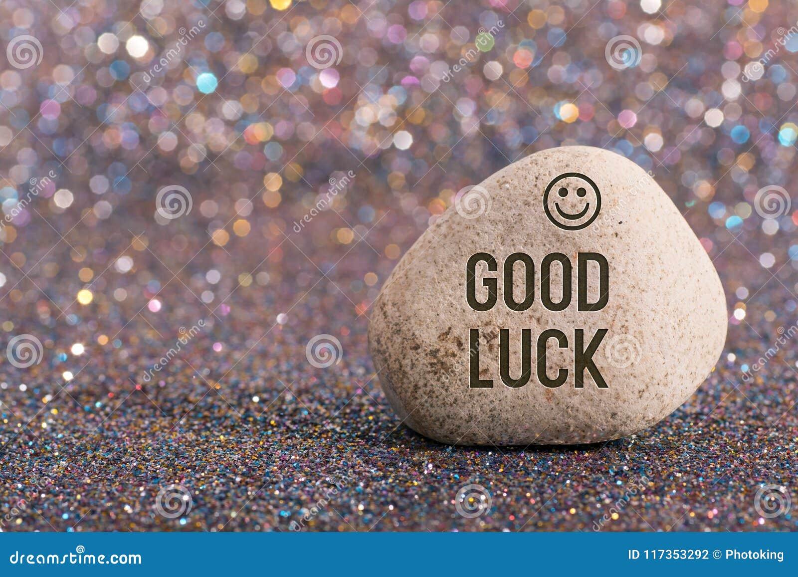 Bra lycka på stenen