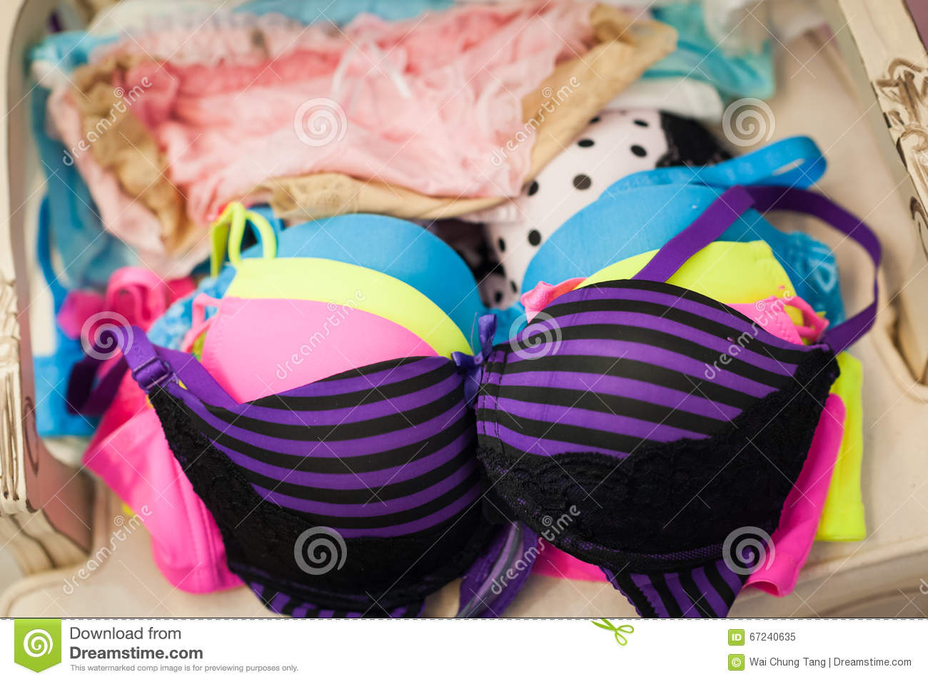 f110cb57d4 Bra and panty lingerie stock image. Image of color